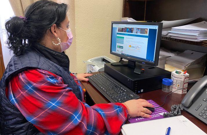 Evan Muñoz, durante una de las sesiones del curso. /Dip