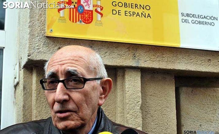 Alonso, en una de sus innumerables visitas a la sede de la Subdelegación del Gobierno en la provincia. /SN