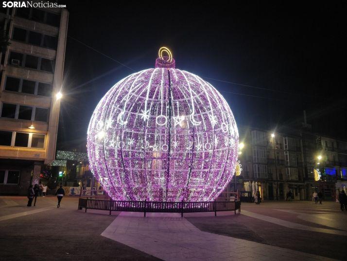 Soria, la capital de provincia que más invierte por habitante en luces de Navidad