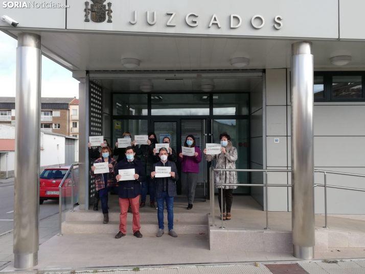 Concentración hoy en los juzgados adnamantinos. /SN