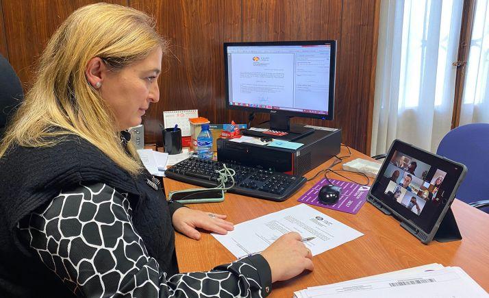 María José Jiménez, durante la reunión del Patronano. /Dip.