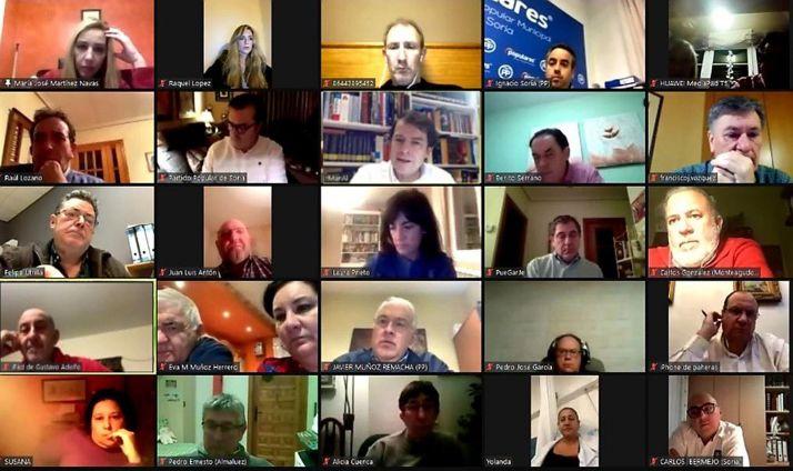 Una imagen del encuentro por videoconferencia.