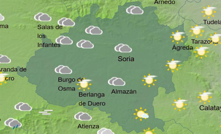 Cielos de la provincia a las 13:00 horas. /AEMET