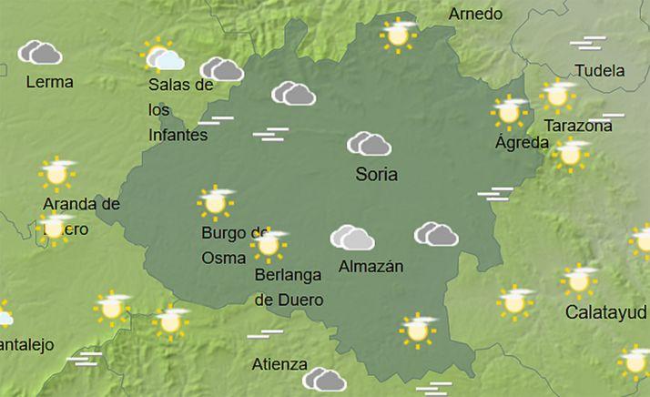 El cielo de la provincia a las 12:00 horas. /AEMET