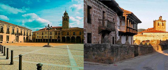 Imágenes de ambas localidades.