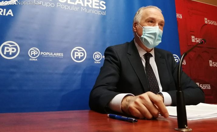 Javier Muñoz Remacha, portavoz del PP en el Ayuntamiento de Soria. /SN