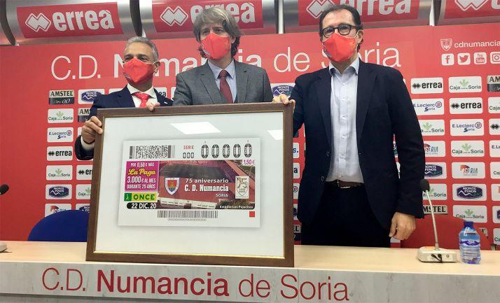 Moisés Israel (izda.), Carlos Martínez e Ismael Pérez.