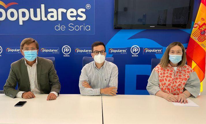 Martínez, Cabezón y Heredia, parlamentarios nacionales del PP soriano.