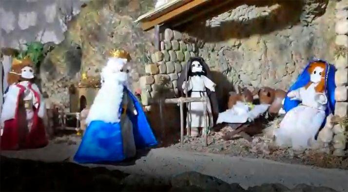 Una de las múltiples escenas del belén de Pedrajas. /AVP