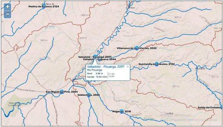 Afirman que la vaquería de Noviercas consumirá como la cuarta parte del caudal del Pisuerga, pero la web de la CHD lo desmiente