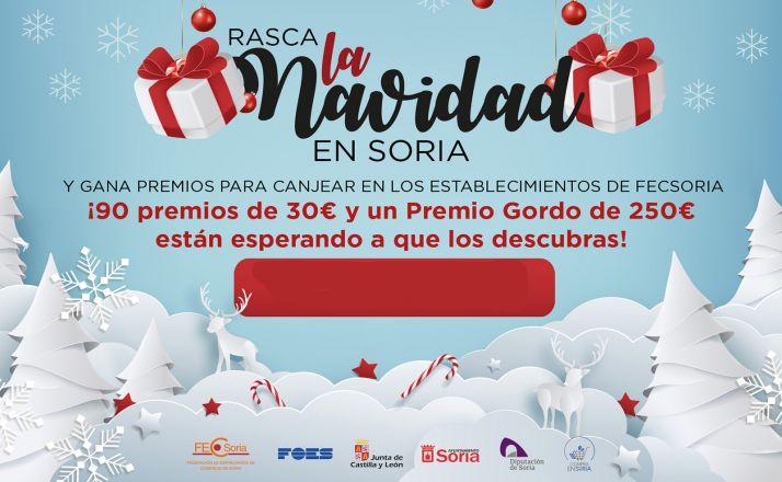 Foto 1 - Los comercios de FECSoria repartirán esta Navidad 3.000 euros en premios en boletos 'rasca y gana'