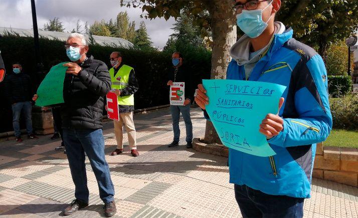 Una de las concentraciones por la sanidad en Soria el 3 de octubre. /SN