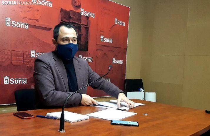 Javier Muñoz presenta el Presupuesto de 2021.
