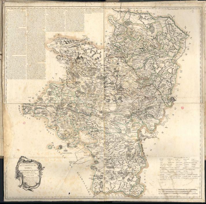 Mapa de Soria de 1783. Instituto Geográfico nacional.