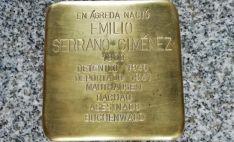 Stolperstein de Emilio Serrano. /ASRD