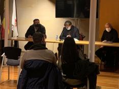 Reunión celebrada ayer entre los jurados y el Ayuntamiento. Ayto Soria