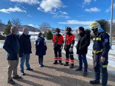 Recepción del vehículo en el parque de bomberos de Ólvega.