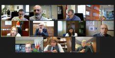 Una de las dos reuniones celebradas hoy, vía telemática, a instancias de la Delegación de la Junta este martes. /Jta.