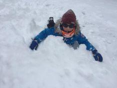 Juegos en la nieve.