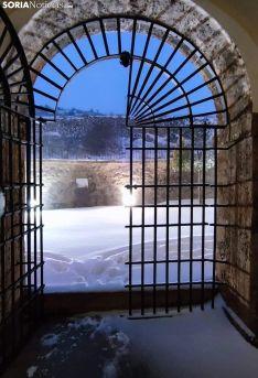 Una imagen del monasterio a primeras horas de la mañana de este sábado. /Consuelo Campos
