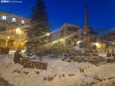 Así estaba la ciudad de Soria esta mañana. SN