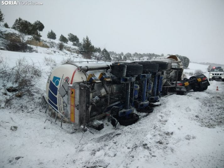 Accidente ocurrido en la N-122.