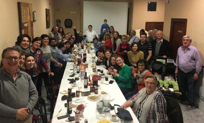 Celebración del Jueves Ladero de otros años en la Casa de Soria en Valencia.