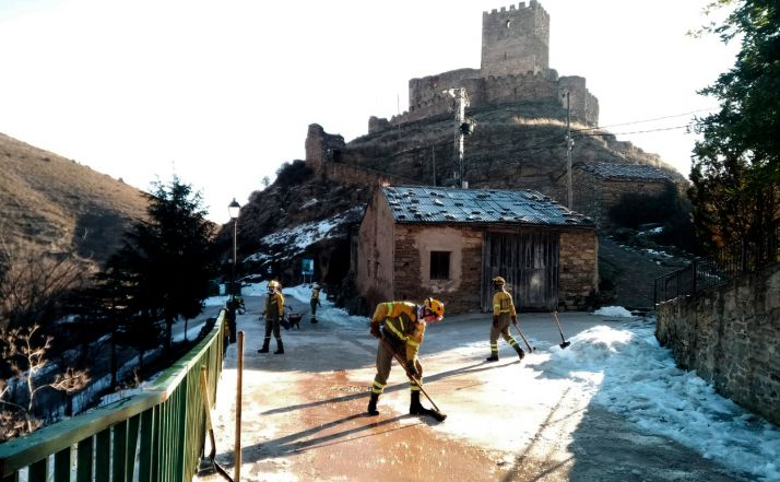 La BRIF de Lubia concluye los trabajos de limpieza causados por Filomena