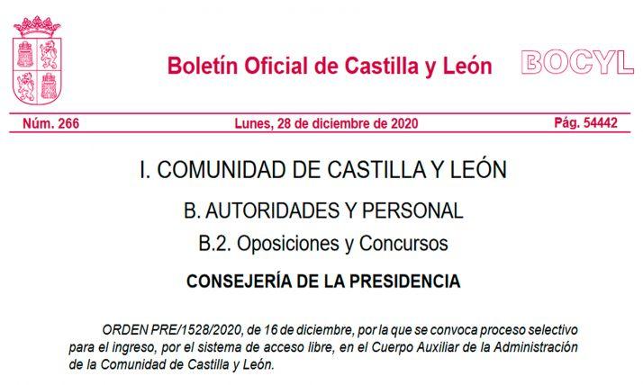 Foto 1 - La Junta de Castilla y León multiplica por 4 su oferta de plazas de auxiliar administrativo