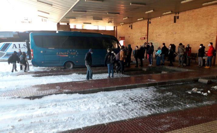 Una imagen de estos días de la estación de autobuses de la capital.