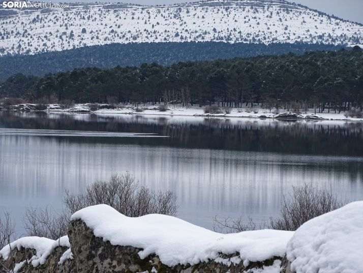 El pantano antes del paso de Filomena.