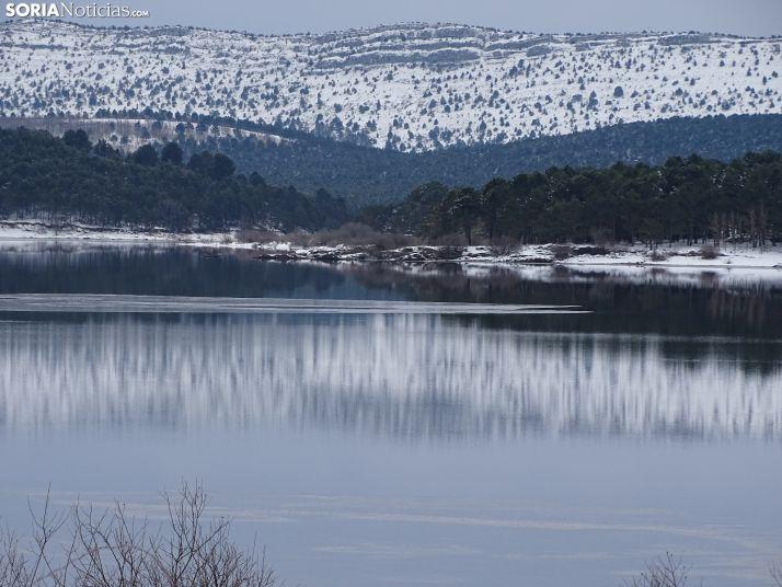 Imagen actual del pantano de la Cuerda del Pozo.