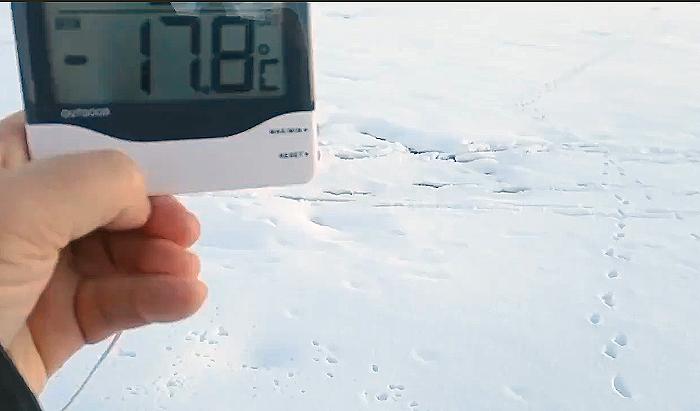 El termómetro en Duruelo esta mañana. /Agustín Sandoval