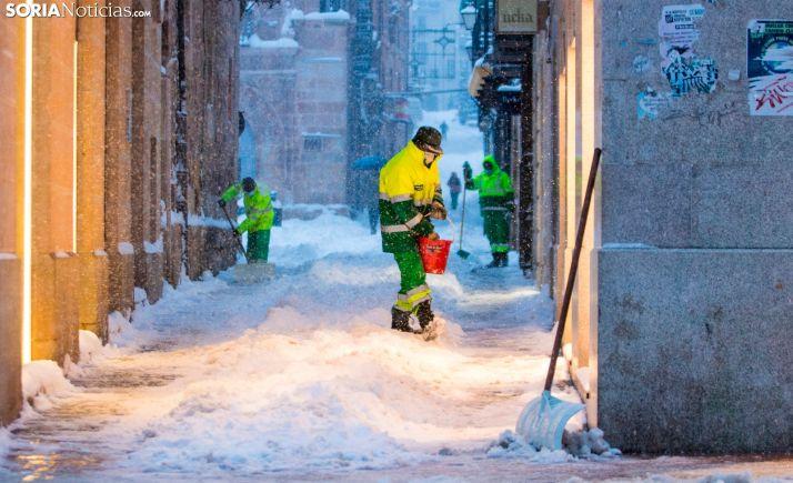 Muñoz Remacha: 'El alcalde critica la gestión de la nevada en Madrid, mientras muchas calles de Soria siguen intransitables'