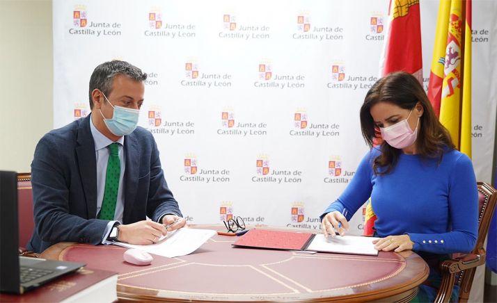 Imagen de la rúbrica del acuerdo. /Jta.