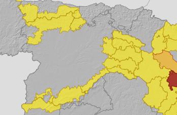 Avisos activados en Castilla y León.