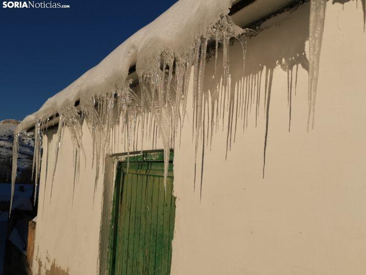 Foto 1 - El aviso amarillo por temperaturas bajas ha continuado esta madrugada en Soria