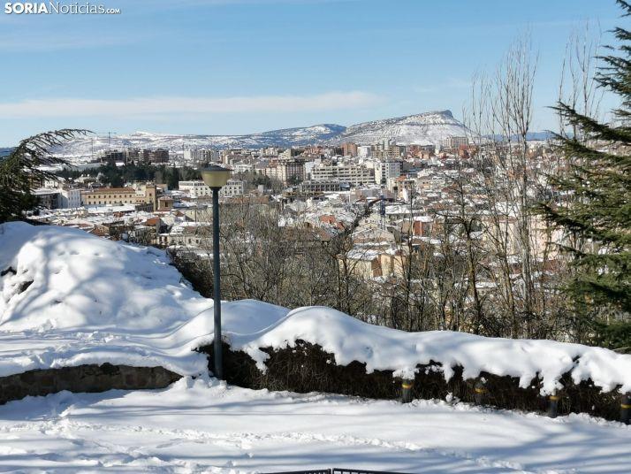 Soria vista desde el parador, ayer sábado 16 de enero.