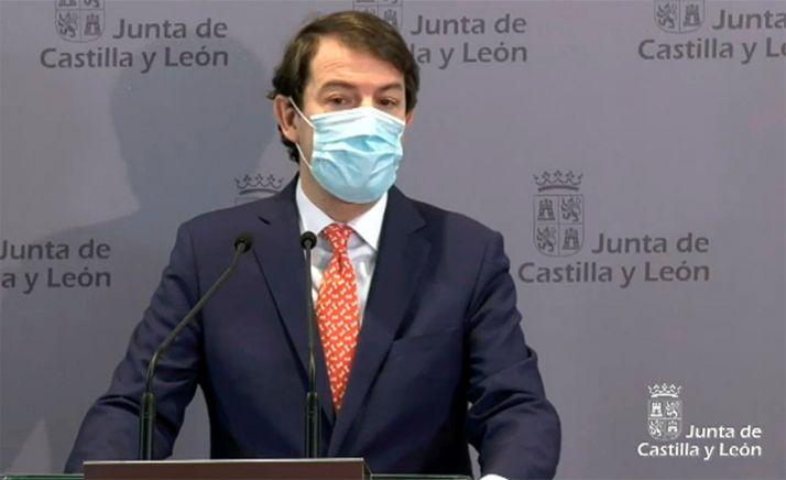 Alfonso Fernández Mañueco, en una reciente comparecencia pública.