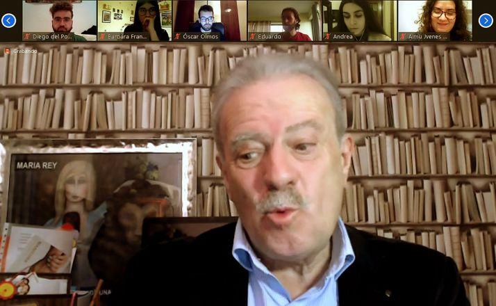 Manuel Campo Vidal en el encuentro con Jóvenes CyL.