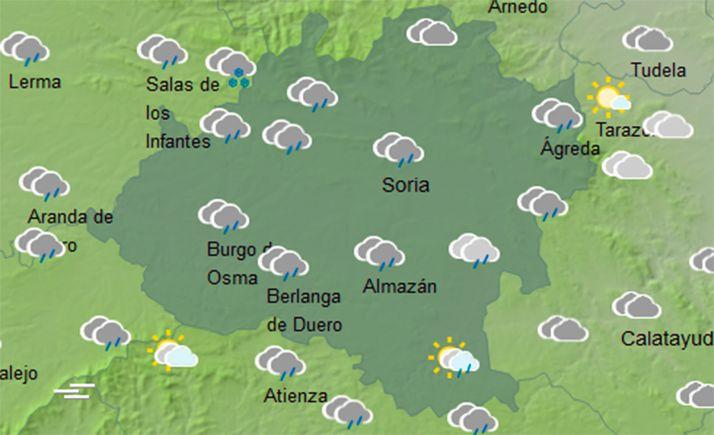 Foto 1 - El tiempo en Soria: Se mantiene la inestabiliad y nieve por encima de los 1.000 metros