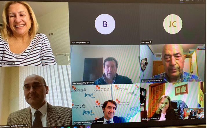 Imagen de los participantes en la videoconferencia. /Jta.