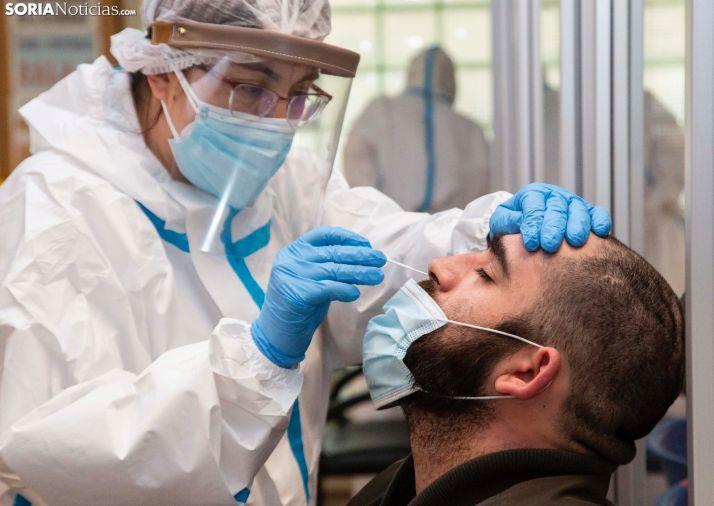 Test de antígenos realizado en Ólvega. /María Ferrer