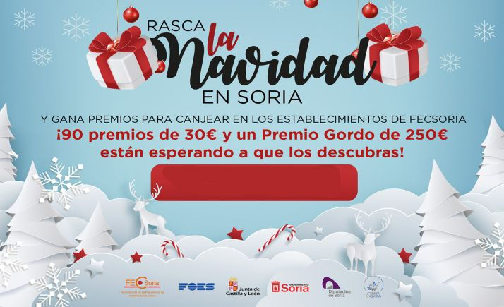 Foto 1 -  La tienda Pedro Molina canjea el Premio Gordo de 250 euros de los 'rasca' de Navidad de FECSoria