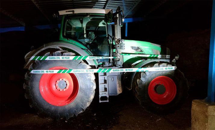 El tractor recuperado por la Guardia Civil de Soria. /GC
