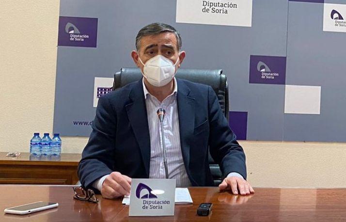 Antonio Pado durante la rueda de prensa.
