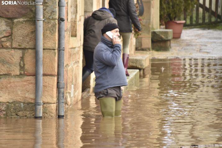 Salduero y Molinos, inundados por el Duero.