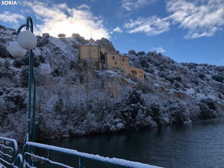 San Saturio nevado ayer, 1 de enero. Alba García