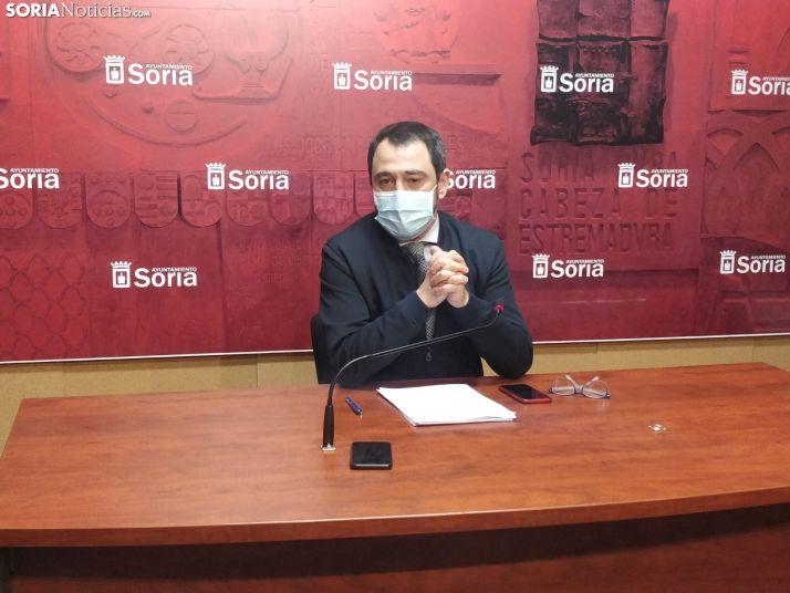 Javier Muñoz en rueda de prensa. SN