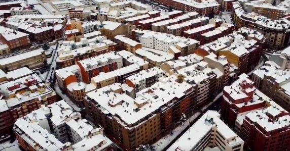 Foto 1 - Espectacular vídeo de Soria nevada desde el aire